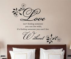 Love Isnt Finding Quote Vinyl Wall Art Sticker Decal by Purrfic