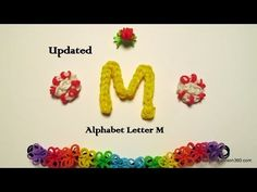 Updated: Rainbow Loom Letter M - How to - Letter Series