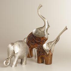 Silver Etched Elephants | World Market