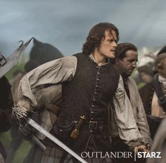 Sam Heughan as Jamie Fraser fighting in the battle of Culloden - Outlander_Starz Season 3 Voyager - August 4th, 2017