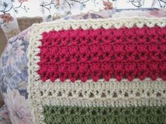 Crochet afghan, V stitch and DC (maybe good for scrap yarn)