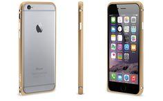 Bescherm jouw iPhone 6 Plus op een stijlvolle manier met deze mooi vormgegeven goudkleurige bumper gemaakt van geanodiseerd aluminium.