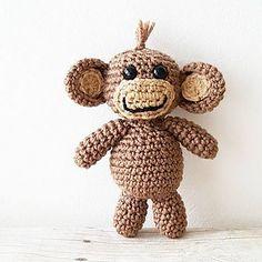 Crochet Pattern Baby Monkey Stuffie Stuffed Animal Toy Infant Newborn Baby Handmade Photography Photo Prop Nursery Decor PDF Instant Download