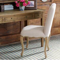 Nicolai Upholstered Dining Chair, Oak Legs