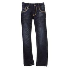 Salty Dog Girls Dark Wash Slim Fit Blue Jeans