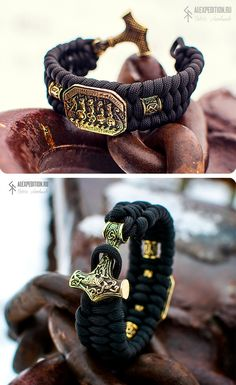 Drakkar - Paracord bracelet with Exclusive Brass engraving and Thor's Hammer Terms of ordering days Attention! It is wrist size in circumference. Paracord Braids, Paracord Bracelets, Metal Bracelets, Handmade Bracelets, Bracelets For Men, Mens Bracelet Fashion, Mens Fashion, Friendship Bracelet Patterns, Bracelet Designs