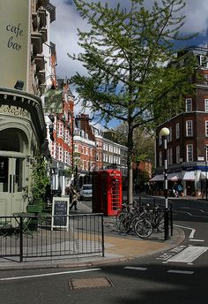 Marylebone High Street, London. There are some lovely shops in this street. Be sure to visit the book shop.