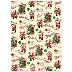 This Santa Christmas Delivery Wrapping Paper is wonderful ephemera for crafts, decoupage, gift wrap, framing, mod podge and more. Made of high quality Italian paper stock. Vintage Christmas Wrapping Paper, Christmas Gift Wrapping, Vintage Christmas Images, Christmas Scrapbook, Christmas Pictures, Christmas Poster, Noel Christmas, Holiday Posters, Christmas Journal