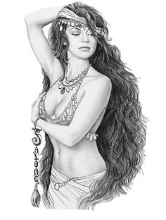 I love this <3 but to  bring out the true image of this gypsy girl it needs some color.