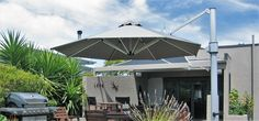 Umbrellas are able to provide sun protection all day long. Umbrellas are not only visually stunning, but also durable and made to last. Sun Protection, Umbrellas, Patio, Outdoor Decor, Home Decor, Terrace, Interior Design, Home Interior Design, Home Decoration
