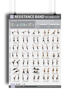 Trx exercises trx all body workout fitness pinterest trx fitwirr resistance band workout poster for women 19 x 27 fandeluxe Images