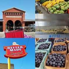 Didn't have to rush into work this morning so I took a little detour to downtown #Detroit with a visit to @easternmarket and to @bettermade1930 what a beautiful morning in the city! #fb #farmersmarket #meoriusa
