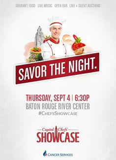 Keep an eye out for ticket sales coming soon to Savor the Night at the 32nd Annual Capital Chefs' Showcase, CSGBR's signature fundraising event. #ChefsShowcase