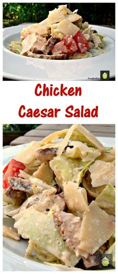Chicken Caesar Salad with Home made Caesar Salad Dressing. A refreshing and wonderful tasting dish, made from scratch and easy too!  Really tasty recipe.