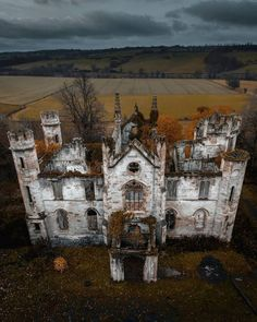 Nestled in a grove of trees and just above the River Clyde are the remains of the Cumbusnethan House / Priory. The home was designed by James Gillespie Graham in a Tudor Revival priory style. It is 2 storeys with a sunk basement and formed in a symmetrical rectangular layout. The octagonal tower corners stand beautifully on each corner.