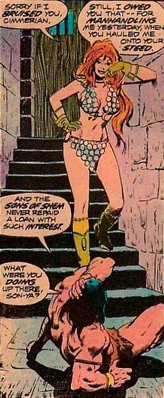 Conan the Barbarian ( w/ Red Sonja (John Buscema) Red Sonja, Comic Book Artists, Comic Artist, Comic Books Art, Conan Der Barbar, Jim Steranko, John Buscema, Steve Ditko, Nostalgia