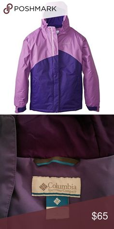 Columbia Girl's Crash Out Jacket Gently used & in amazing condition! Size Girl's Medium (10-12.) Waterproof & insulated with 150grams of insulation. Bundle and save ✨ Columbia Jackets & Coats Puffers