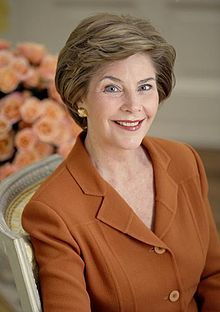 Laura Lane Welch Bush (born November 4, 1946) is the wife of the 43rd President of the United States, George W. Bush. She was the First Lady from January 20, 2001, to January 20, 2009. She graduated from Southern Methodist University in 1968 with a bachelor's degree in education and soon took a job as a second grade teacher. After attaining her Master's degree in Library Science at the University of Texas at Austin, she was employed as a librarian. She met George Walker Bush in 1977   wem