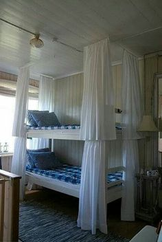 Bunkbed curtains - gives the girls their privacy, if they want it.