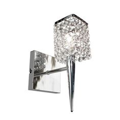 "Bathroom Sconces With Bling possini euro design glitz 12 1/2"" high wall sconce - style # m2871"