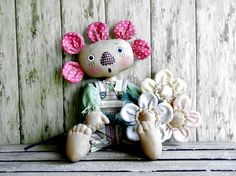 CF 230 SWEET PEA Flower Doll E-Pattern by CatAndTheFiddle on Etsy