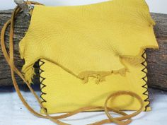 Leather Medicine Bag Stone Sage Pouch by DragonAlleyJournals, $22.00
