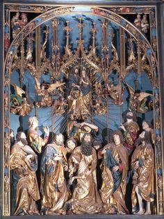 Wit Stwosz, Ołtarz Mariacki w kościele Mariackim w Krakowie, partia środkowa nastawy, 1477-1489, fot. Paweł Migasiewicz