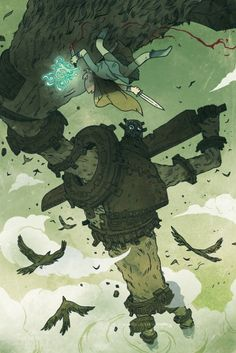 """Shadow Of The Colossus"" Fanart (By Guillaume Singelin)"