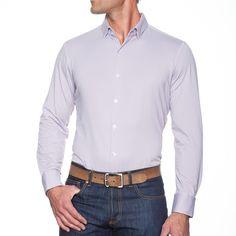"""Morse"" Lavender Gingham Dress Shirt"