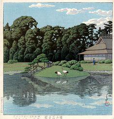KAWASE Hasui 川瀬 巴水 (1883-1957) - Korakuen Park, Okayama, 1934