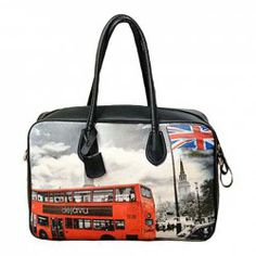 $14.68 Vintage Women's Tote Bag With Floral Print and Rivets Design