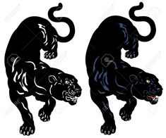Illustration of black panther tattoo illustration isolated on white background vector art, clipart and stock vectors. Black Panther Drawing, Black Panther Tattoo, Panther Logo, Black Tattoos, Body Art Tattoos, Tattoo Drawings, Sleeve Tattoos, Tatoos, Black Panthers