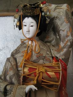 Vintage Ningyo Japanese Geisha Musician Doll
