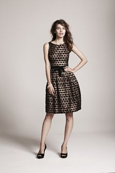 A fun, flirty, feminine dress is the perfect look for a fall wedding or formal party. The bow & polka dots on this style are just too sweet!