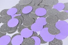 Purple and Silver Confetti Circles Lavender and by Littlebitslane