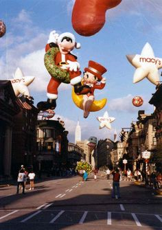 During the early years of the Disney MGM Studios an agreement was made with Macy's to bring a few of the smaller balloons to Florida after the Thanksgiving Day Parade and display them on the New York Street