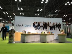 Wonderful seamless graphic backwall and simulated concrete counters for client's global event programme. This one is in New York but the stand has been reconfigured and re-skinned for shows in Chicago, London and Maison d'Objet in Paris.