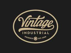 Nice script /// Vintage Industrial