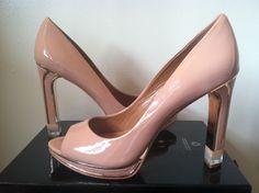 NEW - Rachel Roy Illiana Nude Patent Leather Women's Platform Heels Pumps 9.5 M #RachelRoy #PumpsClassicsPlatformHeels