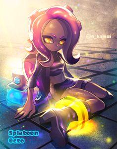 Me as a octoling Splatoon 2 Game, Nintendo Splatoon, Splatoon Comics, Squid Girl, Fanart, Music Covers, Elements Of Art, Video Game Art, Art Pictures