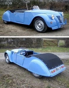 Rare: Citroën by Pierre Barbot. Vintage Cars, Antique Cars, Convertible, Psa Peugeot Citroen, 2cv6, Cabriolet, Rat Rod Cars, Automotive Design, Amazing Cars