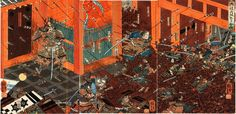 The battle of Rokuhara between the Taira and the Minamoto clans