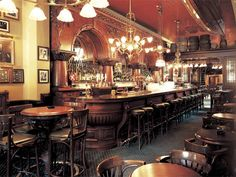 Old Pub Interiors | ... old brunswick bar english pub interior antique chandeliers pub front