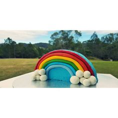 """Rainbow cake for a 5th birthday  #rainbowcake #vanillabean #fondant #hayleescakes #birthdaycake"""