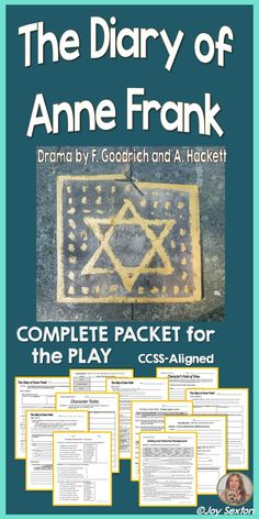 The Diary of Anne Frank Complete Packet is an attractively-designed ready-to-hand-out resource based on the play by Frances Goodrich and Albert Hackett. Scene-by-Scene Response Pages with Common Core-aligned topics, Historical Background, Vocabulary, Writing, and more.