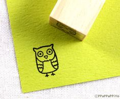 cute owl Small Rubber Stamp by ppappappiyo on Etsy. , via Etsy. My Scrapbook, Scrapbook Supplies, Craft Supplies, Owl Tattoo Small, Small Tattoos, Tattoo Sleeve Filler, Stamp Carving, Owl Always Love You, Cute Owl