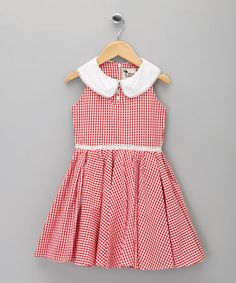 {Red Gingham Hepburn Dress - Infant, Toddler & Girls by La faute à Voltaire}