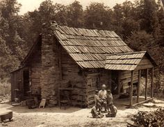 Mountaineer's cabin, Cumberland Gap, Tennessee.