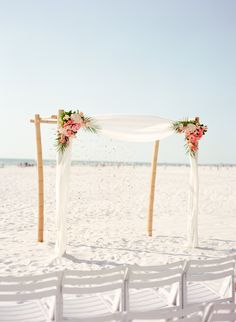 Hilton Clearwater Beach, Clearwater, Florida, Beach Wedding, Destination Wedding, Bamboo Arch, Floral Arrangement, Iza's Flowers, Inc.