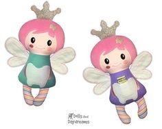 Embroidery Machine Secret Pocket Tooth Fairy Pattern - Dolls And Daydreams